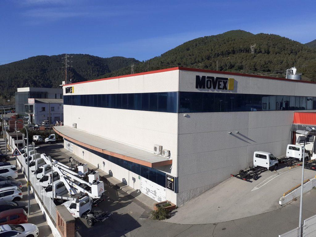 Entreprise Movex, lieu physique, garage nacelles